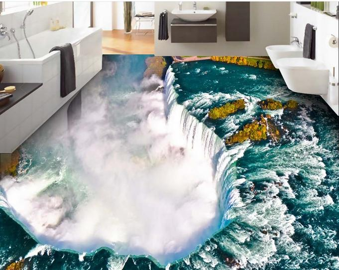 Wallpaper customize 3d flooring shock great falls 3d floor for 3d wallpaper for bathroom