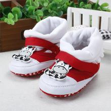 Baby Infant Girls Toddler Warm Prewalker Boots First Walkers Baby Shoes Soft Bottom Prewalker Warm baby boots newborn r8152(China (Mainland))