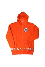 Anime Dragonball Z Goku GUI Symbol Zip Up Hoodie Cosplay Jacket Coat Orange Costume Men Free Shipping Size S-XXL 2nd(China (Mainland))