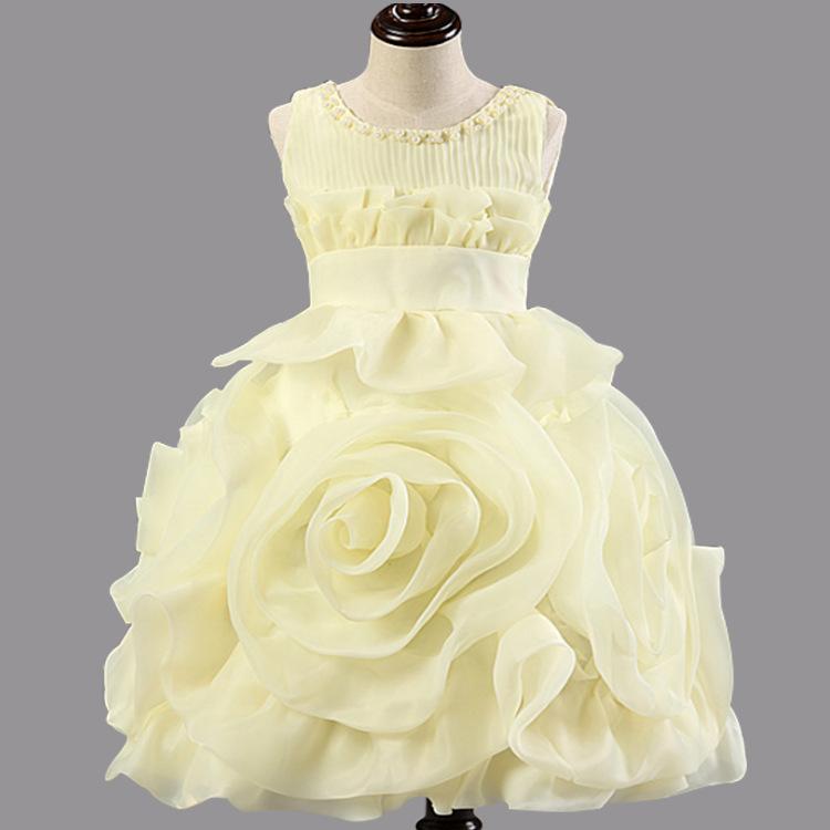 Europe and the girls clothes fluffy pink dress girl wedding flower girl dress  Tutu children<br><br>Aliexpress