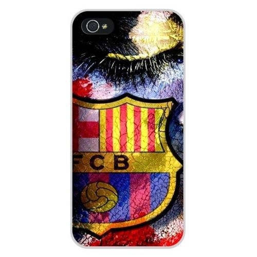 Free Shipping FC Barcelona artistic Plastic Cell Phone Cover Case Cases for Apple iPhone 5 And 5S(China (Mainland))