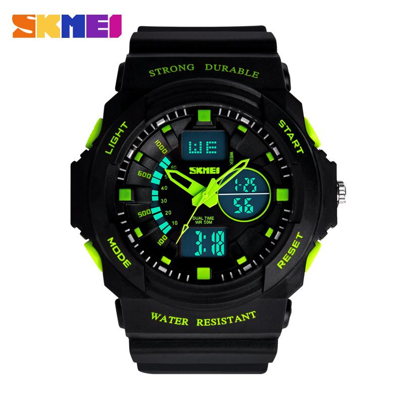 2015 New Sports Quartz Watches Men SKMEI Brand LED Electronic Digital Watch 5ATM Waterproof Outdoor Dress Wristwatches(China (Mainland))