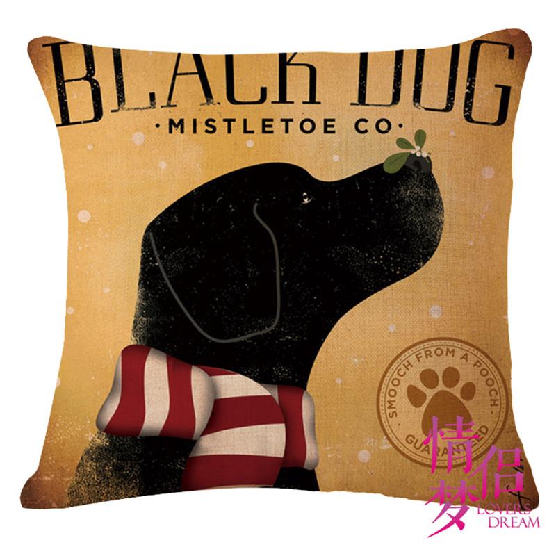 European and American star creative cartoon cats and dogs cotton Pillow Case nap pillow Home car