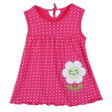 Kids Baby Girls Summer Dresses Sleeveless Party Cartoon Dress Vest Clothes 1-2Y