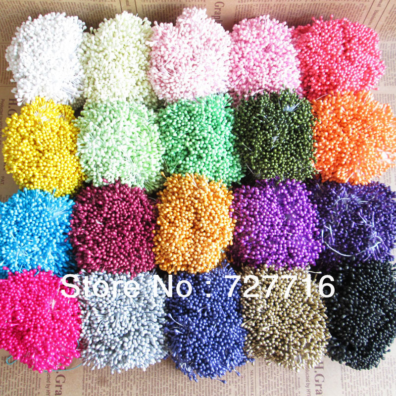 Free shipping 3*60mm pearl flower pistil floral stamen buds cake decoration for DIY(360pcs/lot)(China (Mainland))