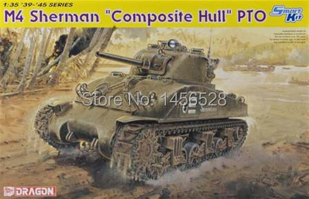 Dragon scale model 6441 1/35 scale tank vehicle American M4 tank sherman assembly Model kit scale models building scale tank kit(China (Mainland))