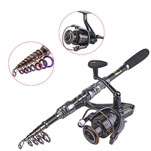 Top Quality 1.8-3.3m Telescopic Fishing Rod With 14BB Spinning Reel Long Shot Casting Poles Fishing Combo(China (Mainland))