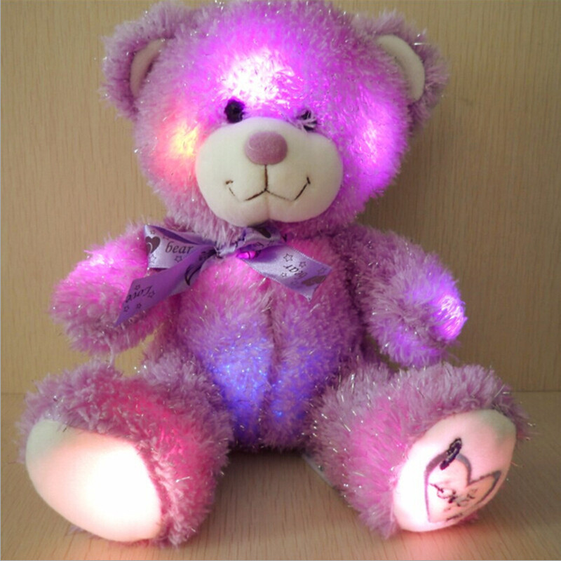 Free Shipping new higher quality 2015 colorful light lavender bear brilliant purple teddy bear plush toys valentine's day gift(China (Mainland))