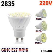 Hot lampada ha condotto la lampada e27 220 v 2835 fiala ha condotto il riflettore gu10  Lamparas bombillas ha condotto la lampadina mr16 spot light candle luz spot led luz(China (Mainland))
