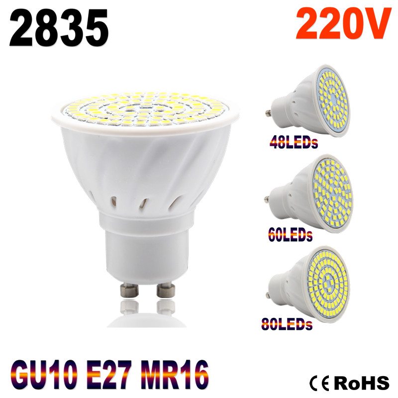 Hot Lampada LED Lamp E27 220V 2835 Ampoule LED Spotlight GU10 Bombillas LED Bulb MR16 Lamparas Spot light Candle Luz Spot luz(China (Mainland))