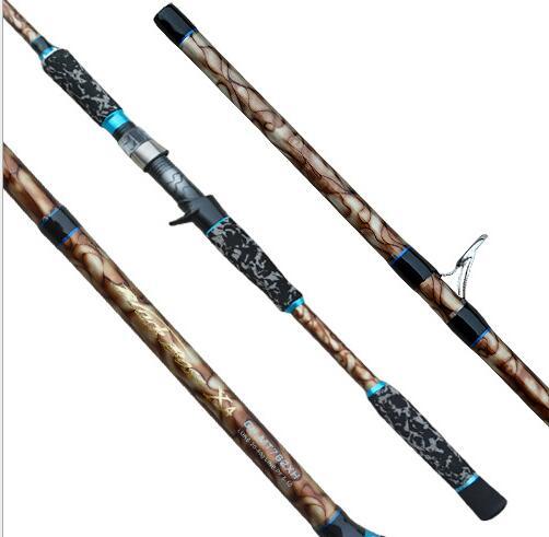 Carbon sea fishing baitcasting rods 2.4m strong baitcasting carbon fiber fishing rod for snakehead,bass fishing