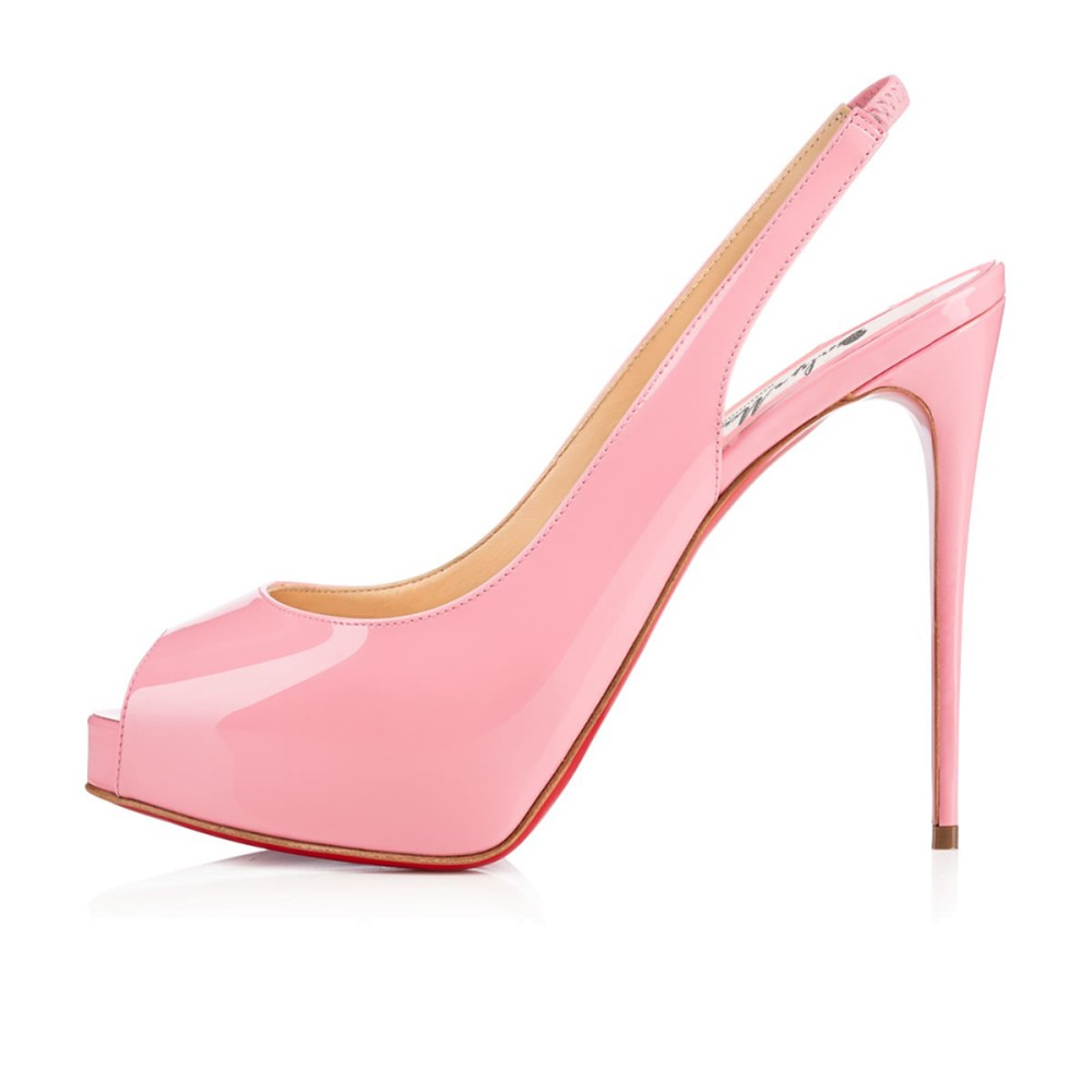 New Desgin Women Slingbacks Pumps Popular Red Bottom 11.5cm Thin Heels Pumps Customizable Pink Shoes Woman Plus US Size 4-15<br><br>Aliexpress