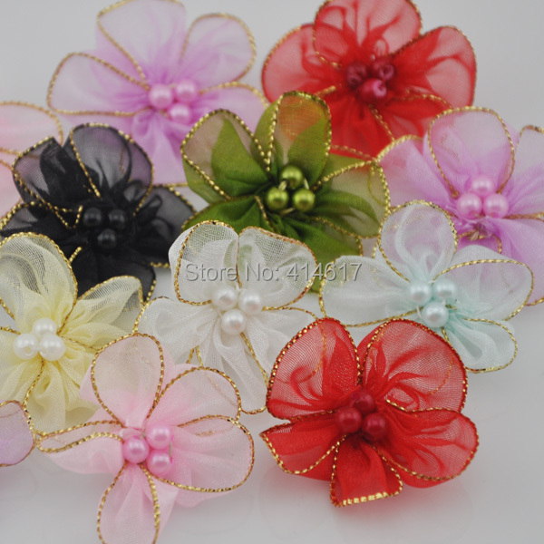 Цветы для свадьбы из органзы