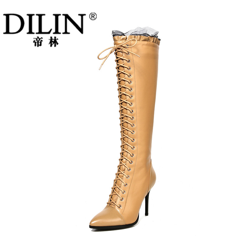 Autumn and Winter Boots Woman Slim Thigh High Boots with Elastic Thin High-heeled Boots<br><br>Aliexpress