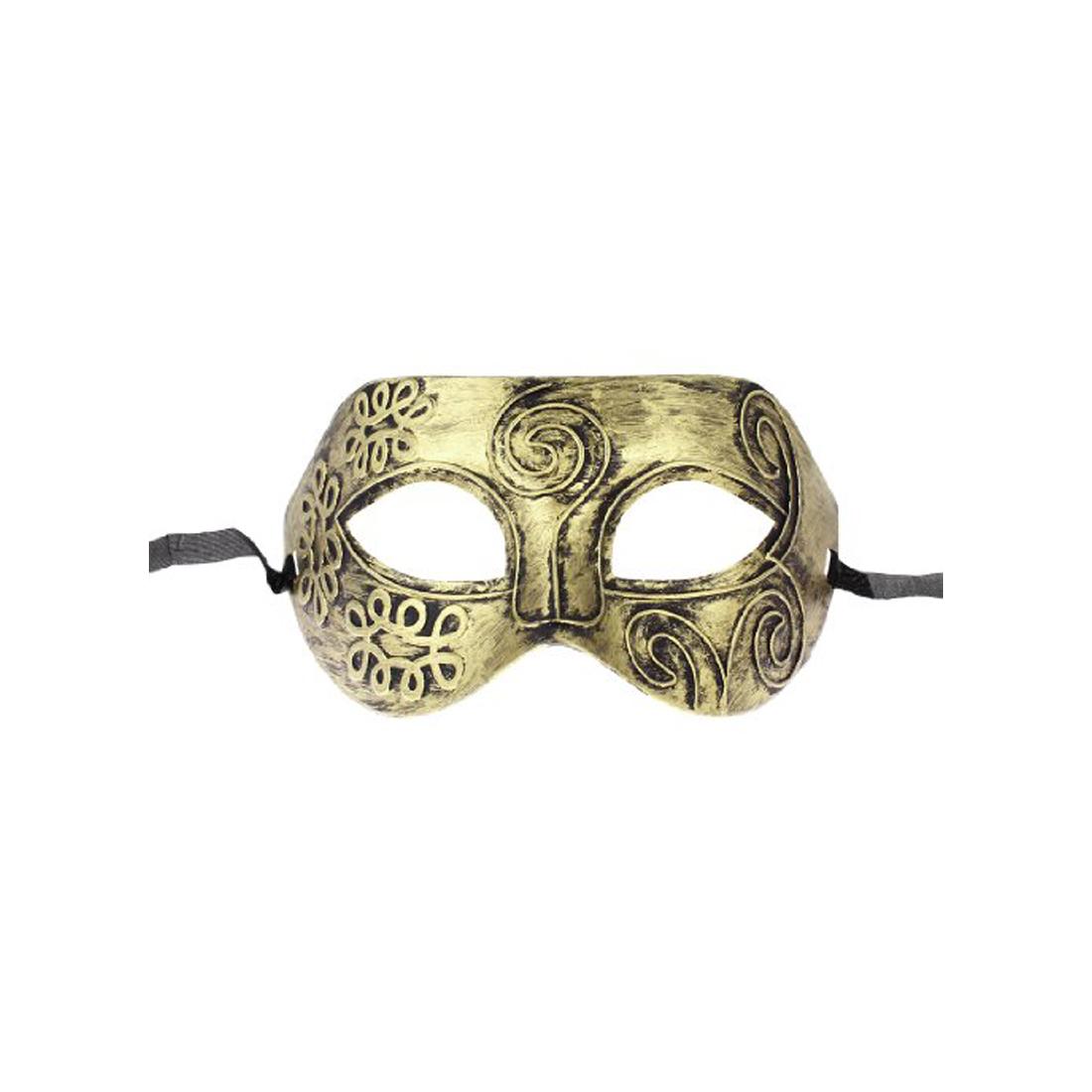 LHLL-New Gold Tone Roman Greek Mens Venetian Halloween Costume Party Masquerade Mask(China (Mainland))