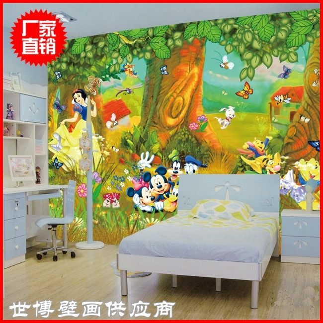 B mural child room wallpaper painting wall painting eco for Child mural wallpaper