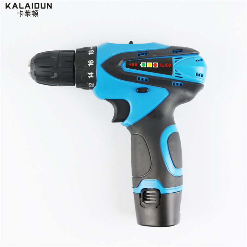 KALAIDUN 12V Mobile Electric Drill Power Tools Electric Screwdriver Lithium Battery Cordless Drill Mini Drill Hand Tools(China (Mainland))