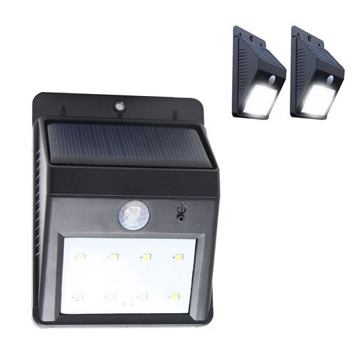 Triangle 8 LED Solar Power Motion Sensor Garden Lamp Outdoor Waterproof Light(China (Mainland))