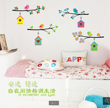 Buy Cute bird nest wall stickers, 3d PVC cartoon little bird's art poster wall stickers, Kids room fashion decoer Wall Stickers for $5.59 in AliExpress store