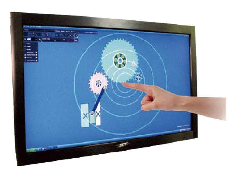 50 inch lcd tv multi touch screen panel kit 2 touch points IR touch screen frame overlay, driver free, plug and play(China (Mainland))