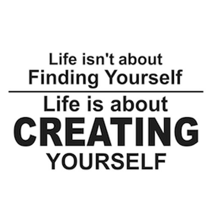 Life Is About Creating Yourself Inspiring Wall Sticker Vinyl Art Adhesive Living Room Home Decor Wall Decal 96x58cm