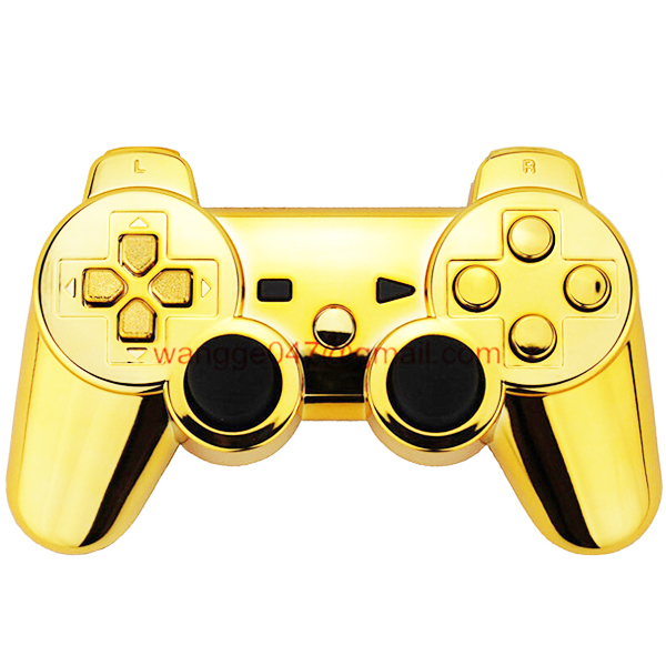 100% High Quality Custom Gold Chrome Shell Mod Kit + Matching Buttons set for PS3 Controller with Screws and Screwdriver(China (Mainland))