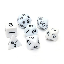 Buy Set 7PCS Dice Dice Die D4~D20 Games Dungeons & Dragons RPG Dungeons Dragons D&D white for $1.26 in AliExpress store