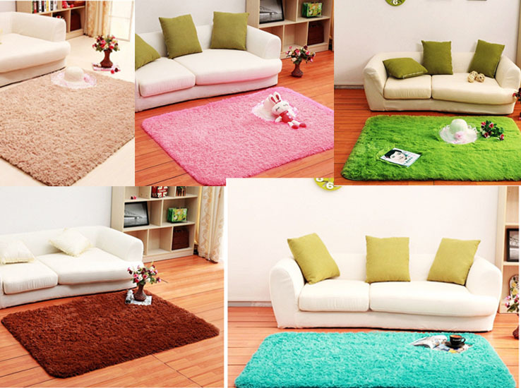 hot sale 5 colors long plush shaggy soft carpet rugs and