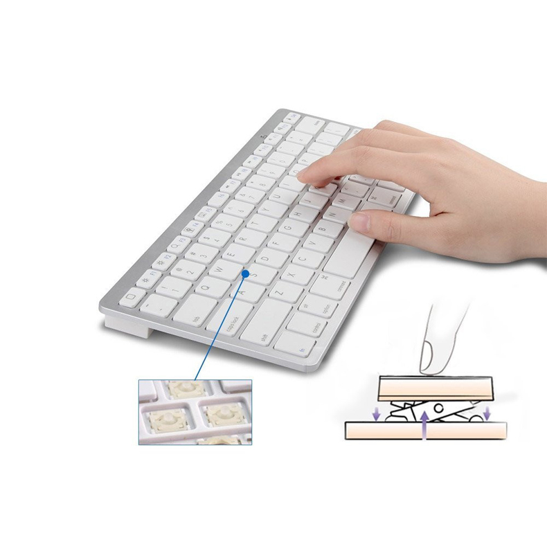 Ultra-slim Wireless Keyboard Bluetooth 3.0 For Apple iPad/iPhone Series/Mac Book/Samsung Phones/PC Computer HB88 free shipping(China (Mainland))