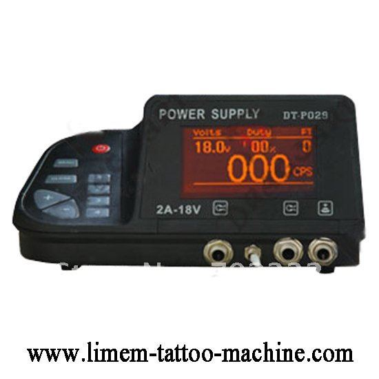Wholesale - PRO DUAL MACHINE LCD DISPLAY TATTOO POWER SUPPLY   free shipping