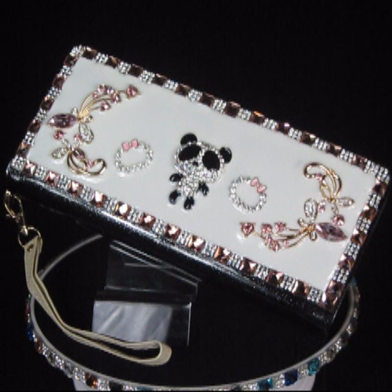 women bag E1 [ orange ] New DIY creative hand inlaid stones drip PU patent leather Miss Qian Bao Specials(China (Mainland))