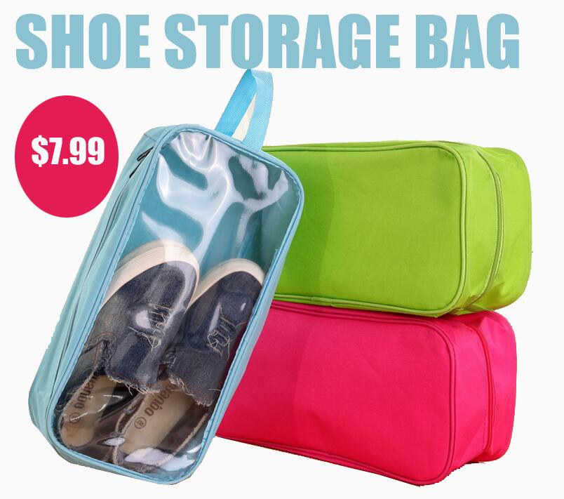 Golive Oxford Shoe Storage Bag 34x16x12.5cm Travel Organizer Bag dust resistant Shoe Bag Closet Organizer(China (Mainland))