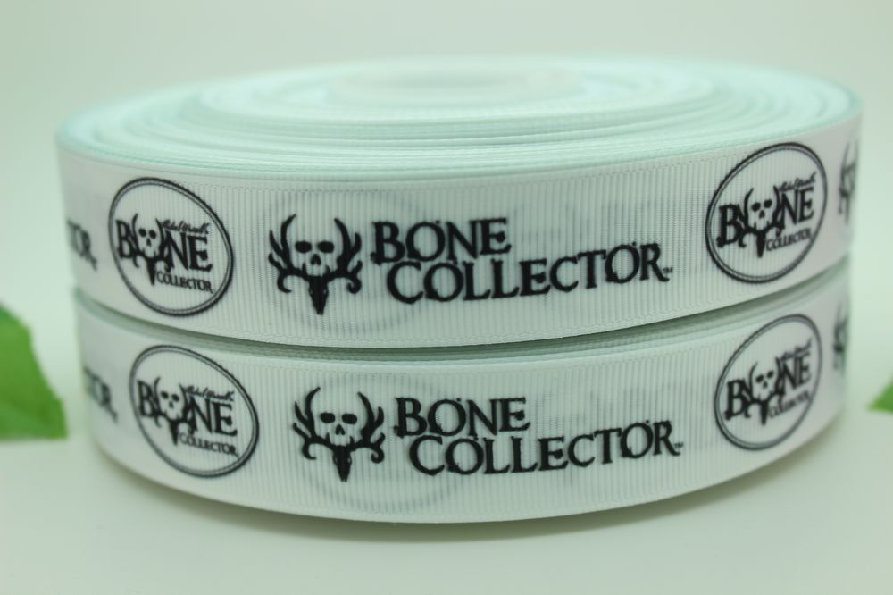 new 7/8'' Free shipping bone collector printed grosgrain ribbon bow diy party decoration custom wholesale 22mm P398(China (Mainland))