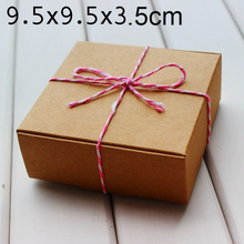 Handmade Soap Jewelry Candy  boxes, Kraft Brown Gift packaging boxes  9.5x9.5x3.5cm 50pcs/lot(China (Mainland))