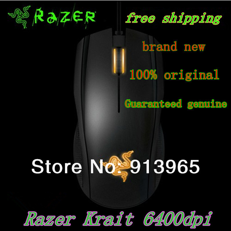 Original Razer Krait 2013 edition,gaming mouse 6400 DPI,4G , Brand New In box ,Free shipping by HK post !!!(China (Mainland))