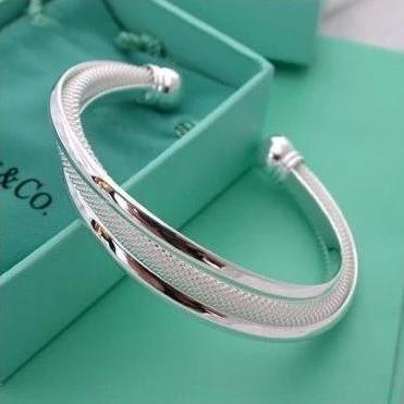 Fashion Women Female Jewelry Elegant Silver Plated Bangles Cuff Bracelets High Quality Gifts Mesh Net Bracelet Pulseira Feminina(China (Mainland))