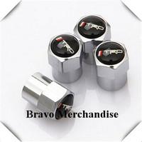 4caps/set mini-type automobile wheel tire tyre valve cap cover with trd car brands logo emblem badge