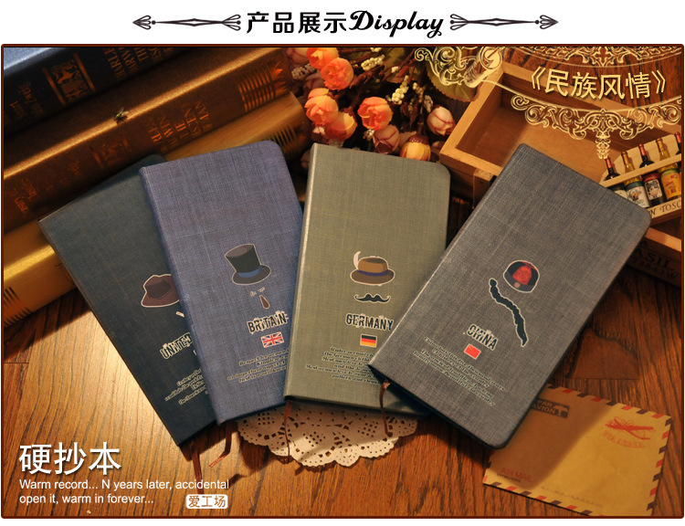 2015 New Arrival Korea stationery Kraft paper, ethnic customs inner core Nation style Notebook notepad gifr 36(China (Mainland))