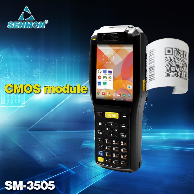 Sem fio Android Barcode Scanner 58 mm impressora de recibos térmica PDA portátil com Camara Scanner sensor(China (Mainland))