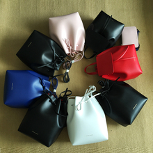 Newest Mansur Gavriel bucket bag women genuine leather hand bag lady real leathe shoulder bag cross bag,free shipping(China (Mainland))