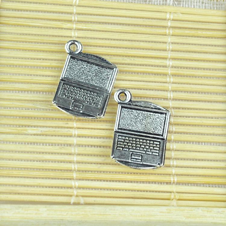 wholesale metal alloy pendant charms 10pcs antique silver