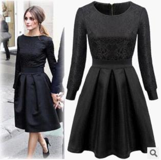 Free Shipping Hot Sale Fashion Star Style Victoria Beckham Dress Long Sleeve Women Slim Casual Dress D0126(China (Mainland))