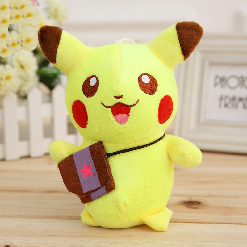 Hot Sale Pokemon Plush Toys 18 cm Pikachu Toy For Children Birthday Gift Kid Anime Doll 2016 New Mrwj012(China (Mainland))