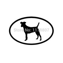 Fox Terrier Sticker For Car Rear Windshield Truck Bumper Auto Door Kayak Oval Dog Puppy Euro Vinyl Decal 8 Colors