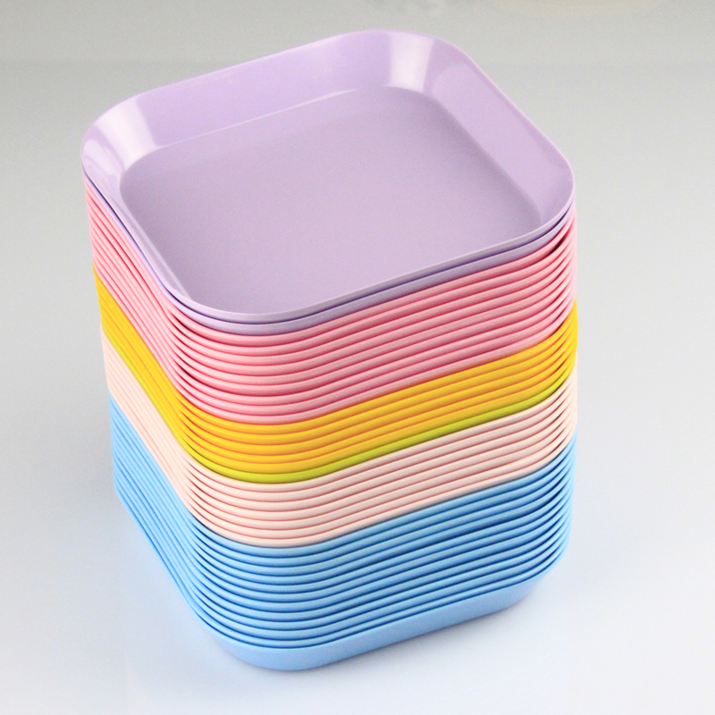 KORDCO plastic tray / candy color square water bowl / small fruit plate / snack tray wholesale(China (Mainland))