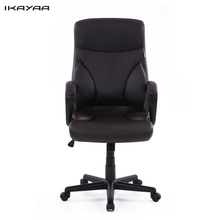 US Stock Brand IKAYAA Faux Leather Swivel Office Chair Stool High Back Computer Task Office Furniture+SGS Intertek Testing(China (Mainland))