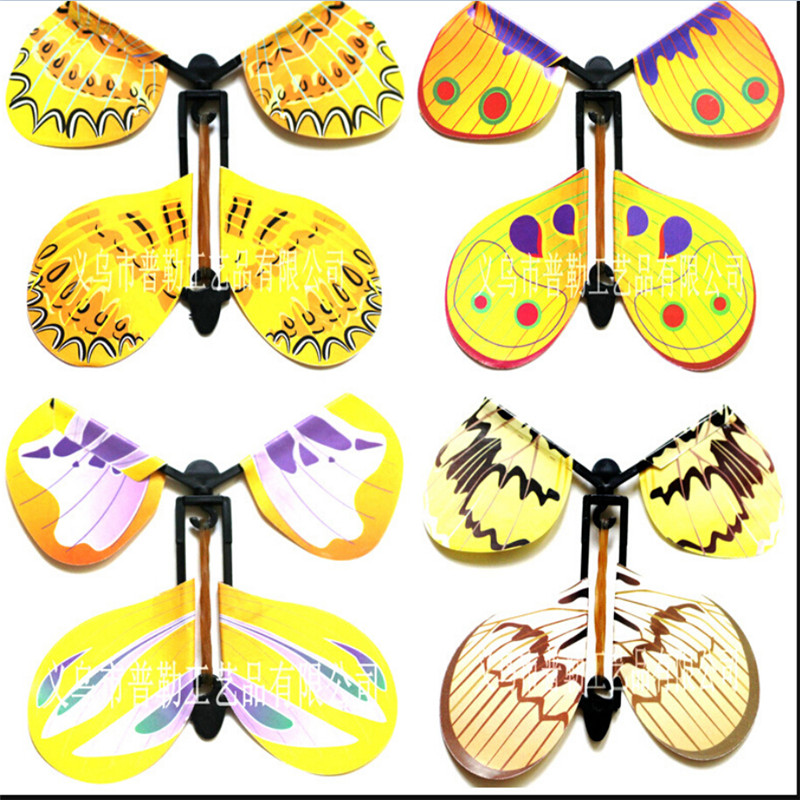 5pcs/lot magic butterfly flying butterfly from empty hands freedom butterfly magic tricks kids children toy(China (Mainland))