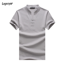 Buy T-Shirt Men New Fashion Summer T Shirts Short Sleeve T-Shirt Men Slim Fit Cotton V Neck Men's Casual Top Tees Plus Size 5XL for $11.85 in AliExpress store