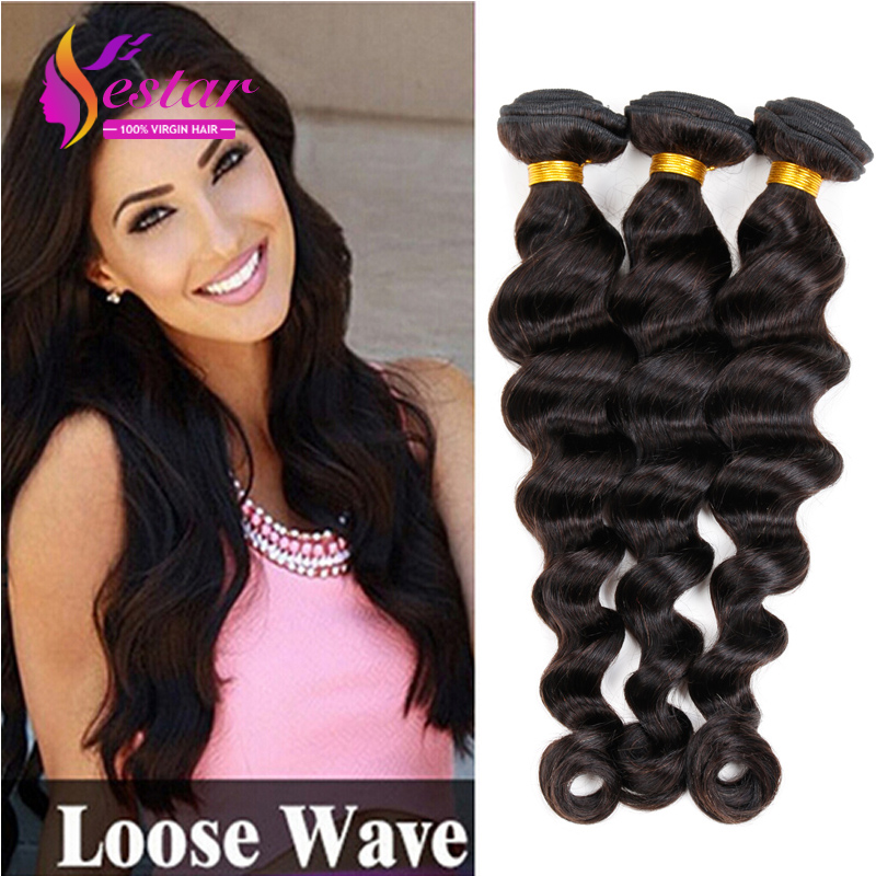 Brazilian Virgin Hair loose Wave 3pcs/lot, Natural Color,100% Unprocessed Curly Brazilian Virgin Hair,Cheap Brazilian loose Wave(China (Mainland))