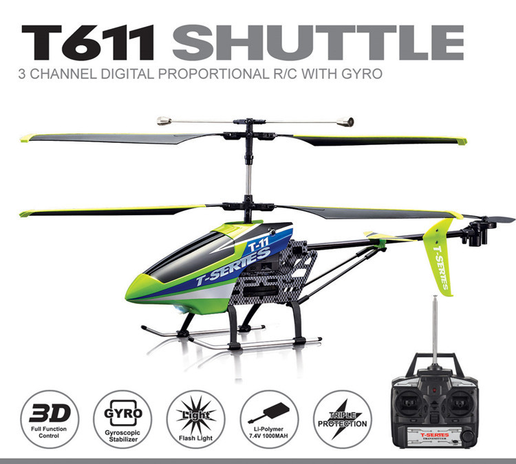 T series MJX T611 wire control 3ch rc helis with gyro mjx t11 heli(China (Mainland))